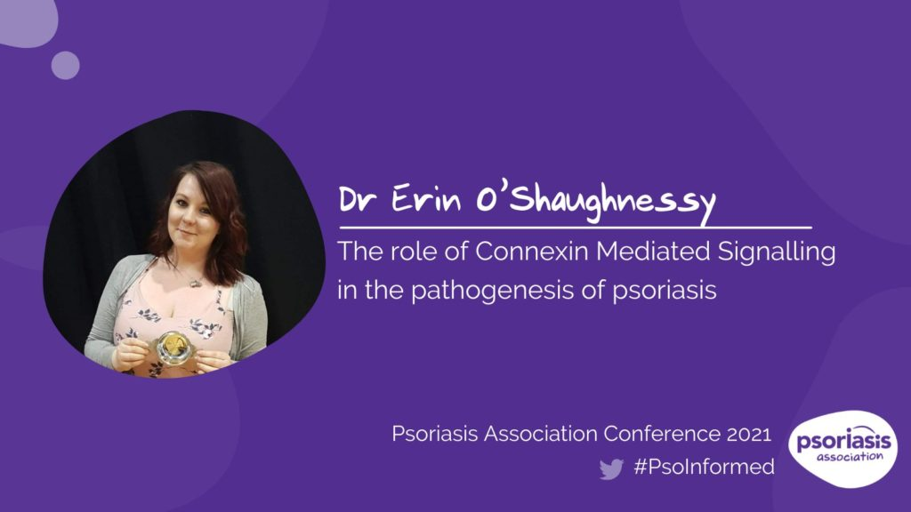 Dr Erin O'Shaughnessy presented her research at the Psoriasis Association Annual Conference